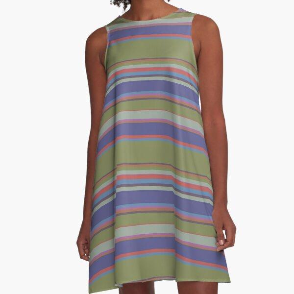 La Douleur Stiped Pattern A-Line Dress