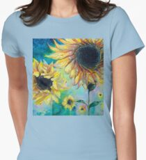 Supermassive Sunflowers Women's Fitted T-Shirt