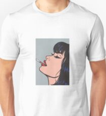 Smoking Girl Unisex T-Shirt