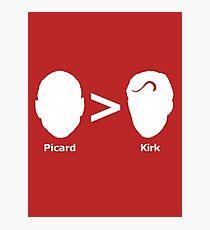 Picard > Kirk Photographic Print