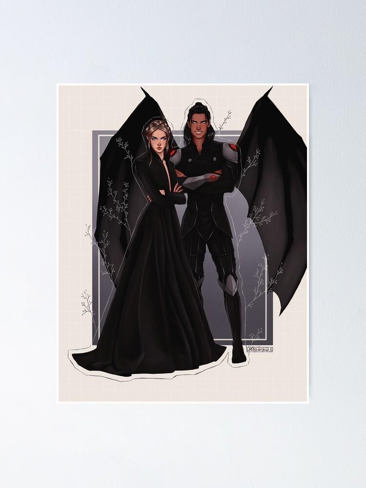 Alternate view of Nesta and Cassian fanart. Poster