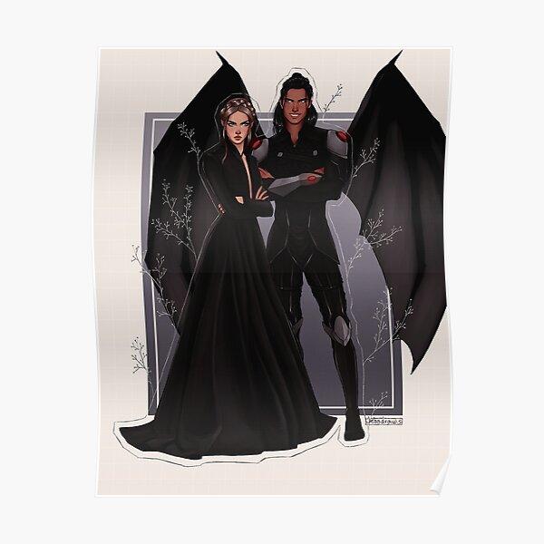 Nesta und Cassian Fanart. Poster