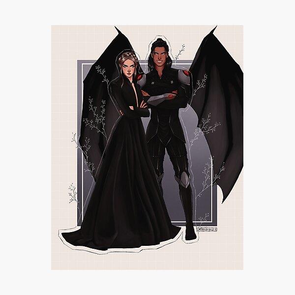 Nesta and Cassian fanart. Photographic Print