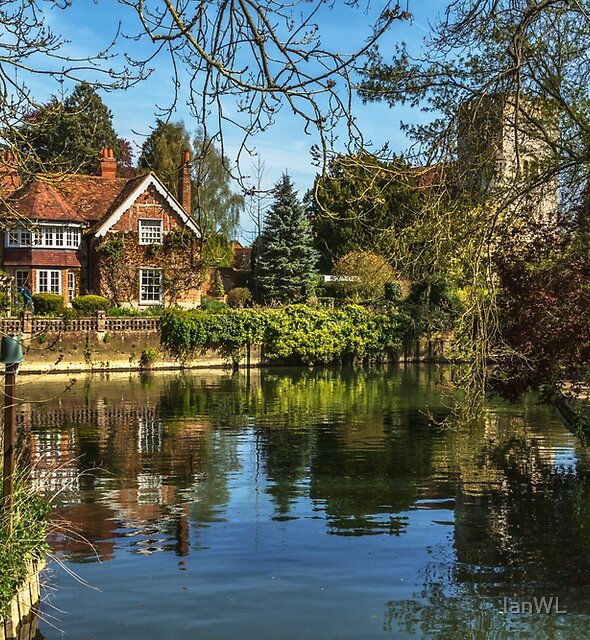 A Backwater At Goring on Thames by IanWL