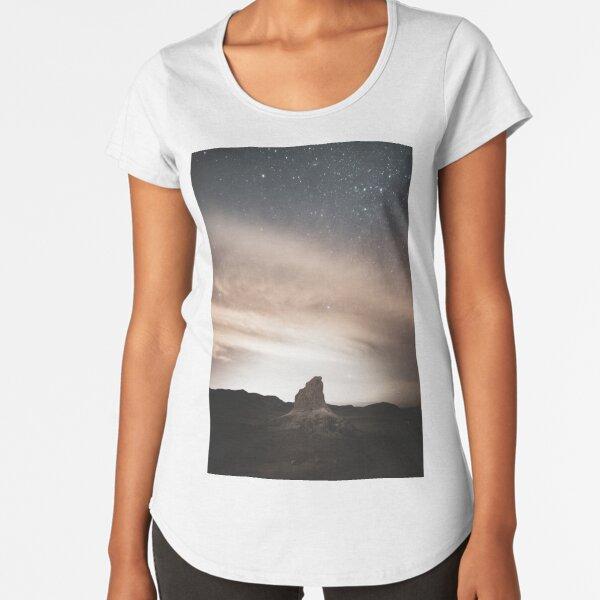 The Trona Pinnacles Premium Scoop T-Shirt