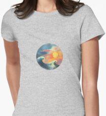 ocean Womens Fitted T-Shirt