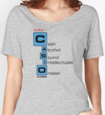 CASH - ALKOHOL - SOUND - INTELLECTUALS - OMELET Loose Fit T-Shirt