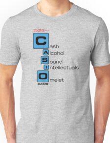 CASH - ALCOHOL - SOUND - INTELLECTUALS - OMELET Unisex T-Shirt