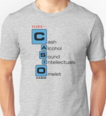 CASH - ALCOHOL - SOUND - INTELLECTUALS - OMELET Unisex T-Shirt