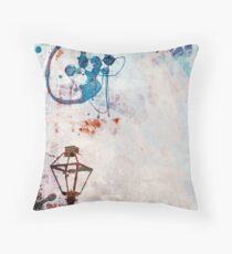 Lamp Post Lost in Paint Throw Pillow