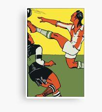 Football soccer retro vintage style Canvas Print