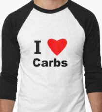 I Love Carbs Men's Baseball ¾ T-Shirt