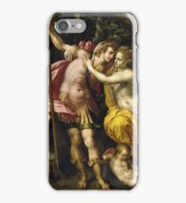Vintage famous art - Hendrick De Clerck - Venus And Adonis iPhone Case/Skin