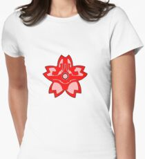 Coruscant Guard flower Womens Fitted T-Shirt