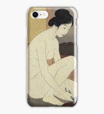 Vintage famous art - Hashiguchi Goyo - Woman Bathing 1915 iPhone Case/Skin