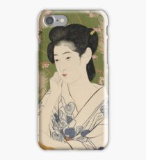 Vintage famous art - Hashiguchi Goyo - Woman At A Hot Spring Hotel iPhone Case/Skin