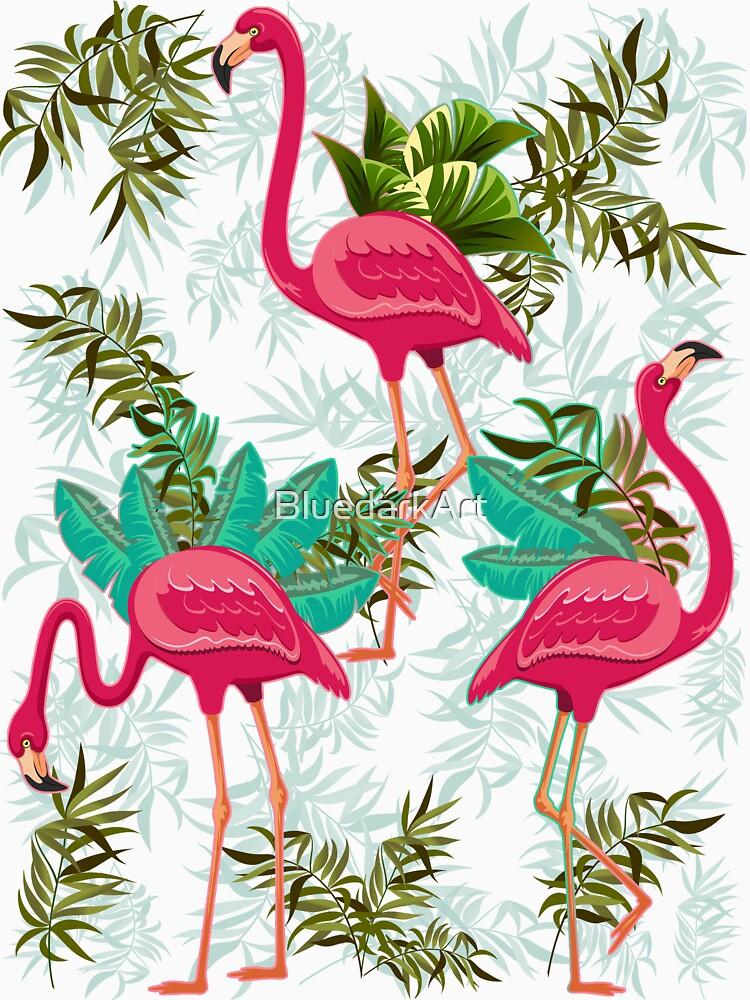 Pink Flamingos Exotic Birds von BluedarkArt