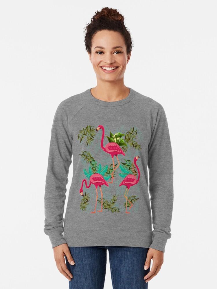 Alternative Ansicht von Pink Flamingos Exotic Birds Leichter Pullover