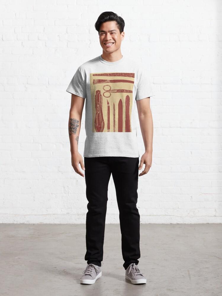 Alternate view of bookbinding tools Classic T-Shirt