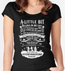 A little bit of Regina Women's Fitted Scoop T-Shirt