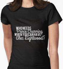 Prince Charming - Alec Lightwood Womens Fitted T-Shirt