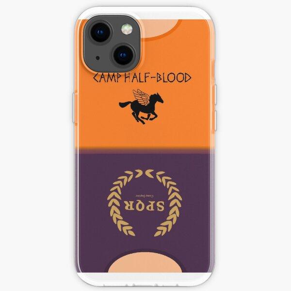 Camp Half Blood and Camp Jupiter Shirt iPhone Soft Case