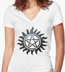 Supernatural Galaxy  Women's Fitted V-Neck T-Shirt