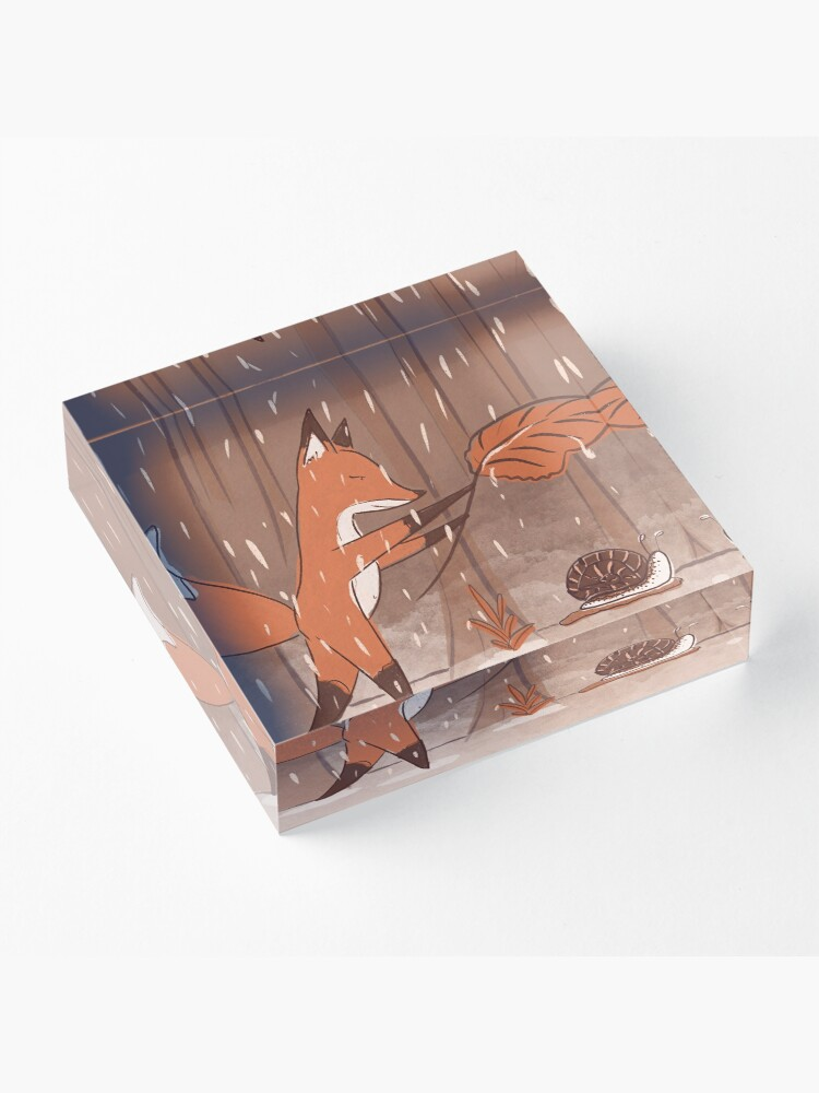 Alternate view of The fox and the snail Acrylic Block