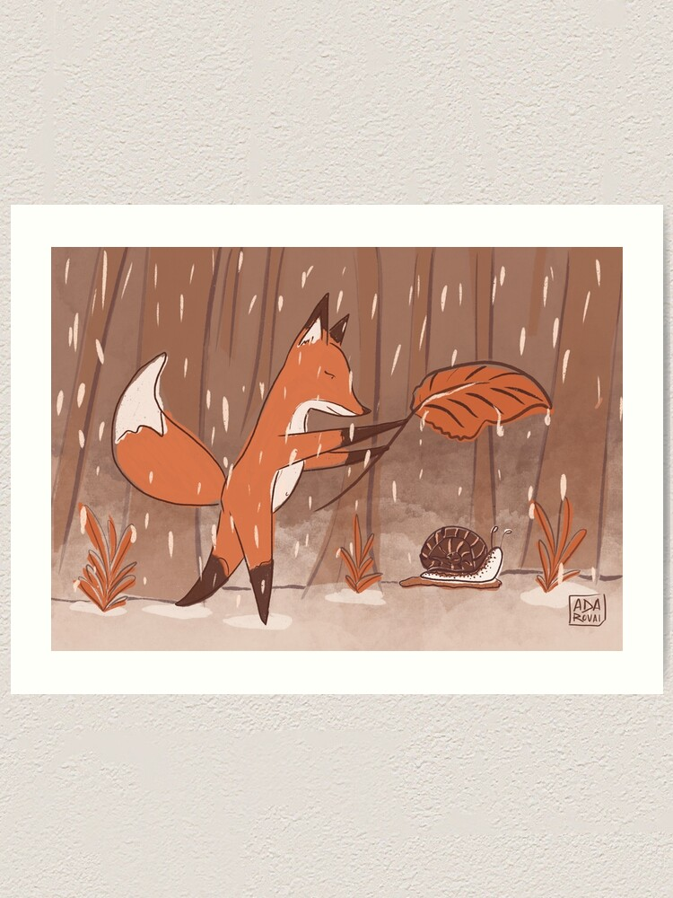 Alternate view of The fox and the snail Art Print