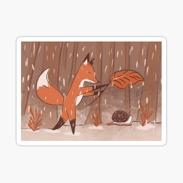 The fox and the snail Sticker