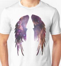 Engels-Rosa-Galaxie-Flügel Unisex T-Shirt