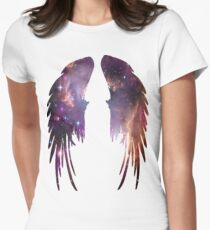 Angel Pink Galaxy Wings Women's Fitted T-Shirt