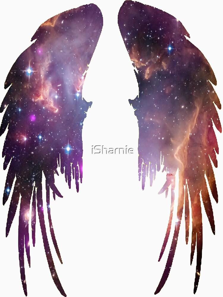 Angel Pink Galaxy Wings | Unisex T-Shirt
