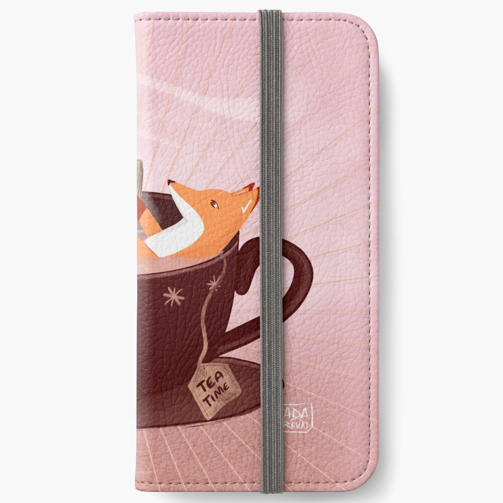 Fox tea time iPhone Wallet