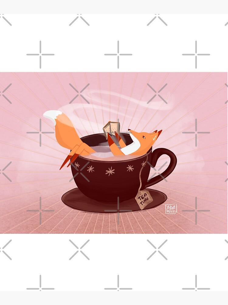 Fox tea time by adarovai