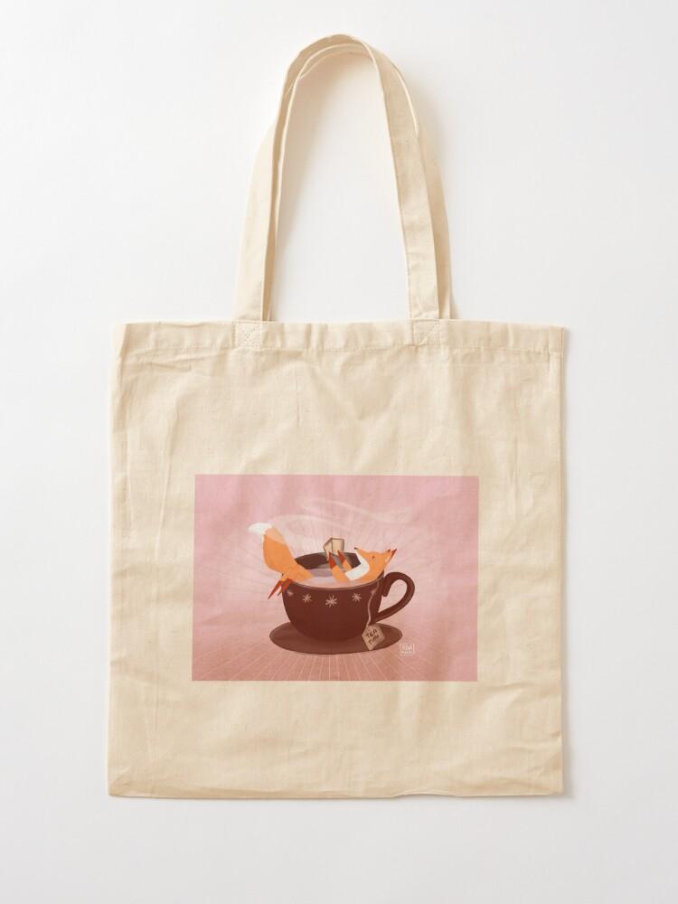 Alternate view of Fox tea time Tote Bag