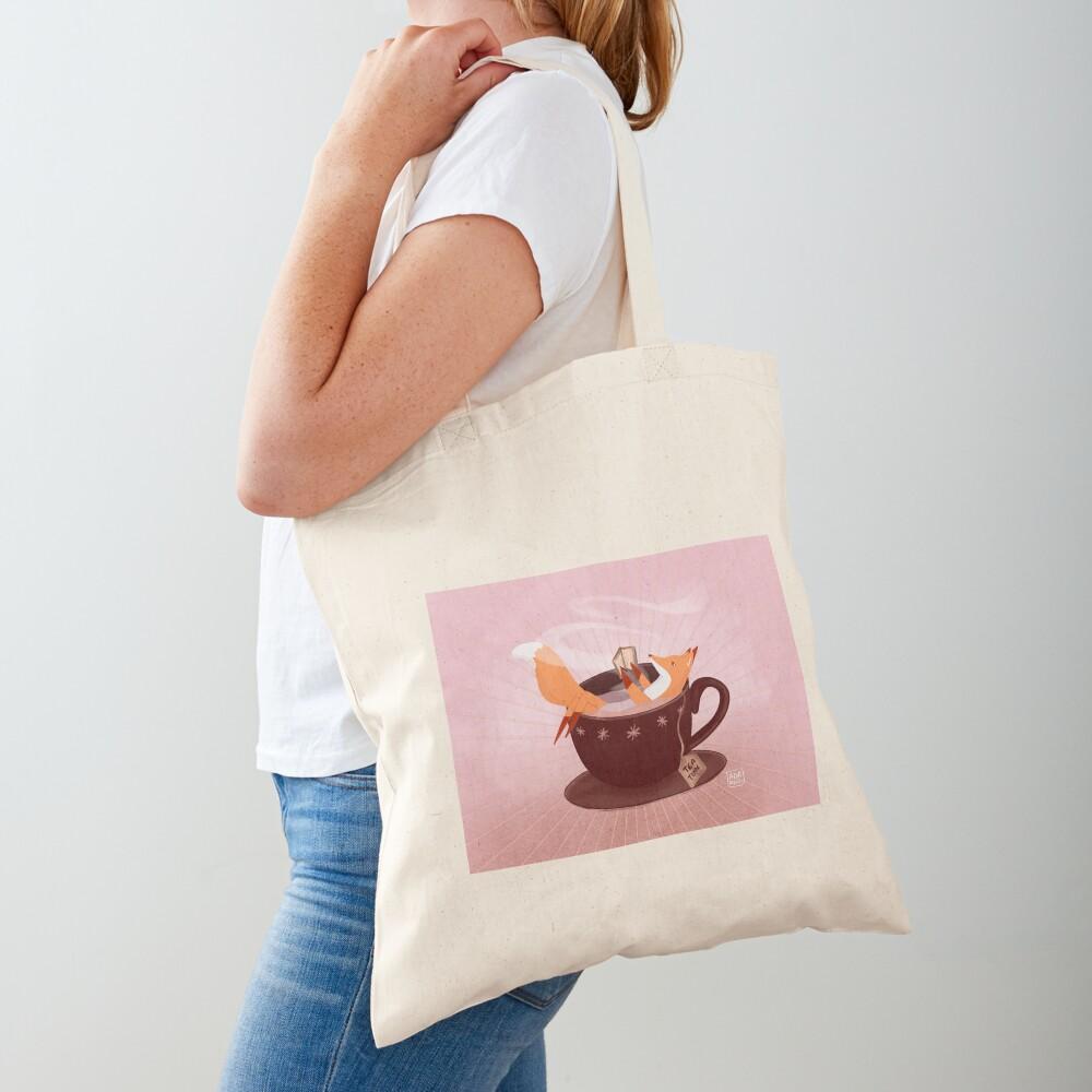 Fox tea time Tote Bag