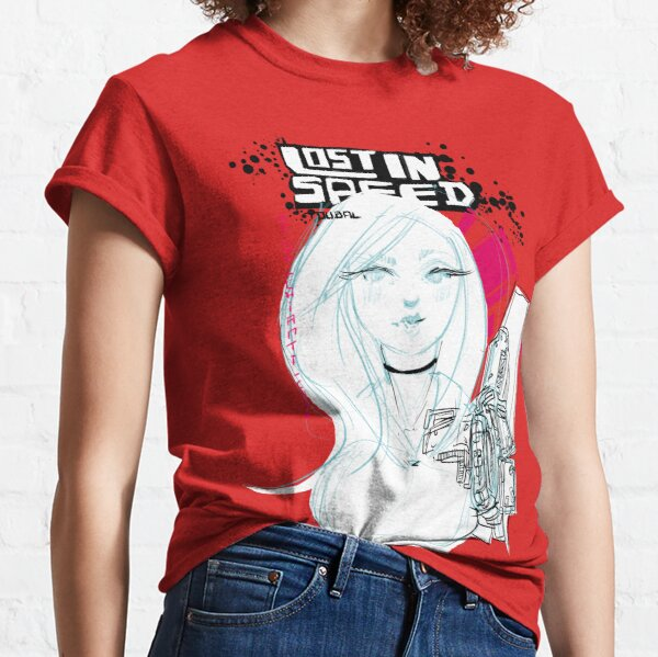 Masquée même dans le cyberpunk T-shirt classique