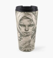 Fairy lady with ermine and birds Travel Mug