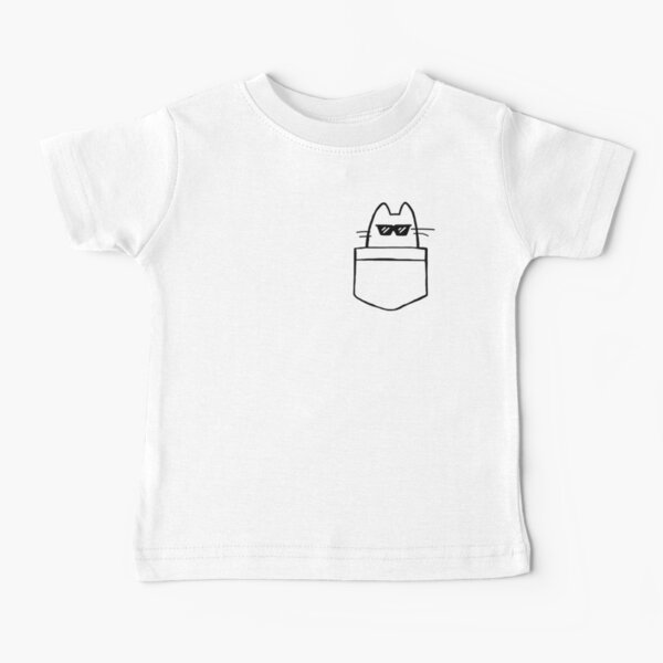 Cool Cat in Pocket Baby T-Shirt