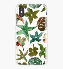 Green Pochoir Floral iPhone Case/Skin