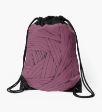 Tangled Lines Drawstring Bag