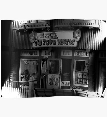 """""""Gatlinburg, Tennessee, Series, #5... The Old Timey Photo Shop, 5th Picture of Series #5""""... prints and products Poster"""