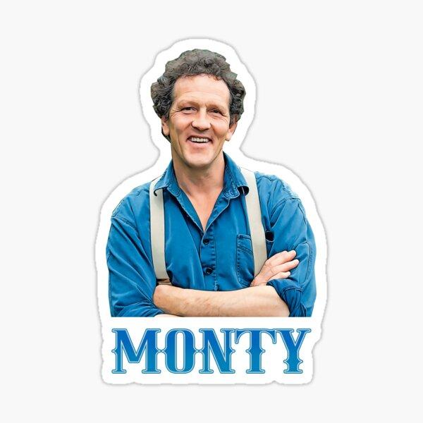 Illustration Pop Art Monty Don TV Presenter Gardener Sticker