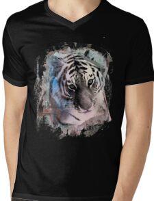 Painted Tiger  Mens V-Neck T-Shirt