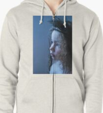 feather in the hair Zipped Hoodie