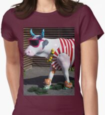 Painted Cow on Holiday - at Floriade Women's Fitted T-Shirt