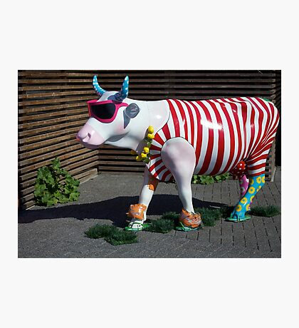 Painted Cow on Holiday - at Floriade Photographic Print