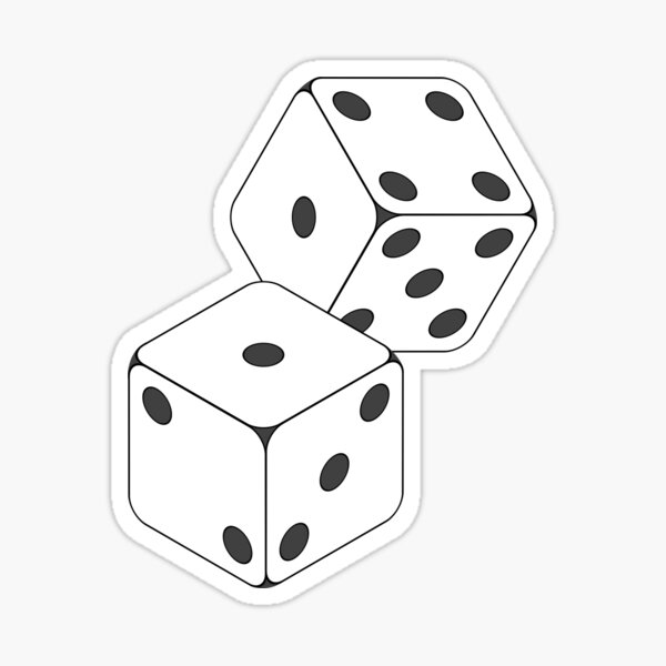 Rolled Dice Sticker