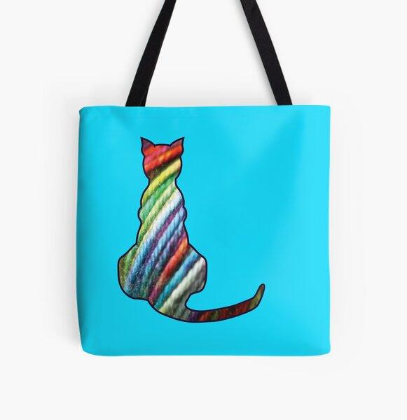 Yarn Cat All Over Print Tote Bag